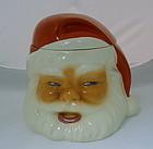Vintage Metlox Santa Head Pottery Cookie Jar