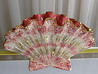California Hedi Schoop Scalloped Fan Vase Gold Pink