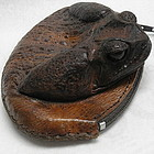 Vintage 1930's Toad Skin Leather Coin Change Purse