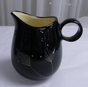 California Vernon Kilns Imperial Black Ebony Creamer