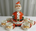 Old Lefton Santa Clause Decanter Santa Head Mugs