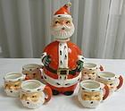 Old Lefton Santa Clause Decanter Santa Head Mugs