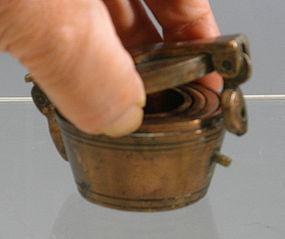 Gold Measuring Weight Set Nuremberg Bronze 18th C