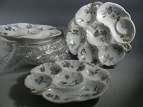 Set of 6 Limoges Haviland French Oyster Plates