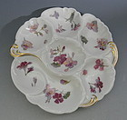 French Limoges Porcelain Oyster Plate Floral Pattern