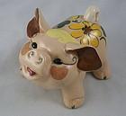 Small California Pottery Vintage Kay Finch Happy Pig