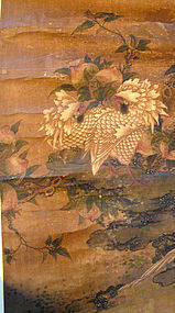 Chinese Rooster Scroll painting