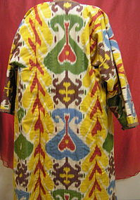 Fashionable Ikat Coat From Uzbekistan