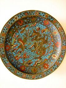 CHINESE MING CLOISONNE DISH