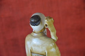 Japanese Ivory Okimono Of Jurojin