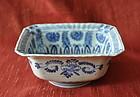 One Chinese Rectangular Blue White Dish