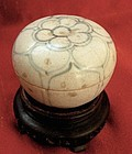 Round Ming Dynasty Cosmetic or Seal Box