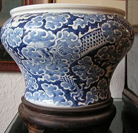 Chinese Blue White Porcelain Cachepot