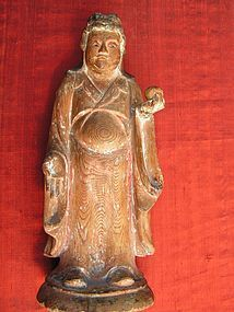 Japanese Buddhist Wood Statue