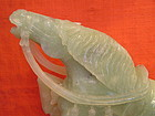 VERY WELL MODELED CHINESE CELADON JADE HORSE