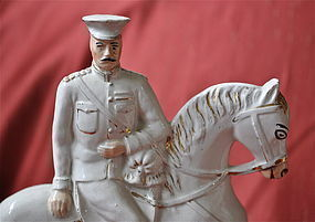 Lord Kitchener and Major General French Staffordshire Figures