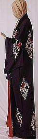 Japanese Art Deco Style Silk Kimono