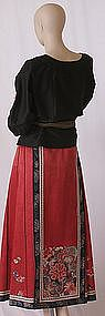 Chinese Festive Silk Skirt