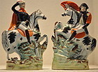 Napoleon And Wellington Staffordshire Figures