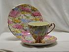 """Shelley cup saucer & plate """"Rock Garden"""""""