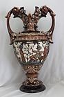 Majolica vase by Gerbing & Stephan