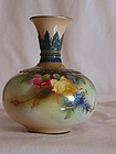 Royal Worcester hand painted vase