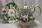 Coalport hand painted and gilded teapot & stand