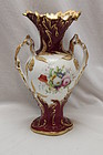 Coalport hand painted and gilded vase
