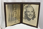 Pair of autographed photos of Sonja Henie