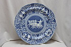 Spode Greek pattern blue and white plate