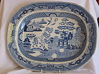 Willow pattern platter by Godwin, Rowley & Co.