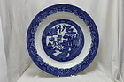 Doulton Burslem willow pattern charger