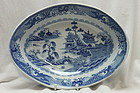 Blue and white bowl by Turner of Lane End