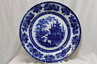 "Doulton Burslem blue and white plate ""Madras"""