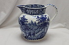 Blue and white jug Dillwyn's Swansea Pulteney Bridge pattern