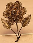 Wonderful Silver Flower Pin/Brooch