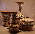 Interesting Peruvian Pottery Set.