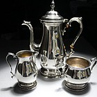 International Sterling Silver Tea/Coffee Set.