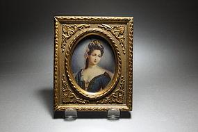 Beautiful Miniature Portrait Painting on Ivory,