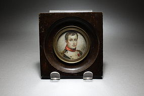 Antique Miniature Painting of Young Napoleon on Ivory
