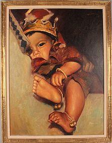 Original Oil Painting Signed Wai Ming.