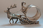 Wonderful Victorian Figural Sterling Napkin Ring,19th C