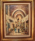 Appealing Painting of Jerusalem Old Bazar