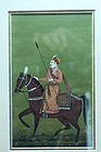 Indo/Persian Manuscript Page-Miniature Painting, 19th C