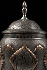 Superb Large Persian Hand Crafted Copper Jar,