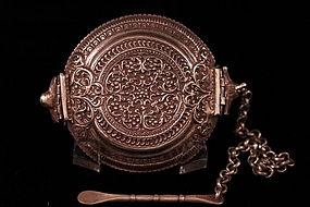 Antique Southeast Indian silver Snuff Box,Ear 19th c.