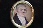 English School (18/19th C.) Miniature Portrait on Ivory