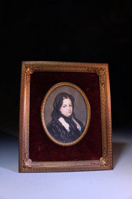 18th C. Miniature Portrait Painting on Ivory.