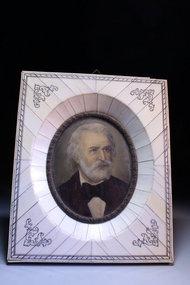 19th c Miniature Portrait Painting on Ivory.