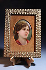 19th c, Artist Signed Painting on Porcelain Plaque.